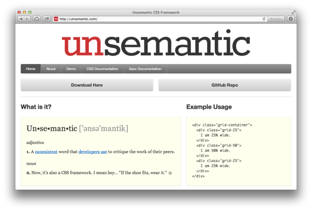Unsemantic CSS Framework
