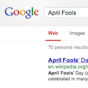 April Fools Day Google