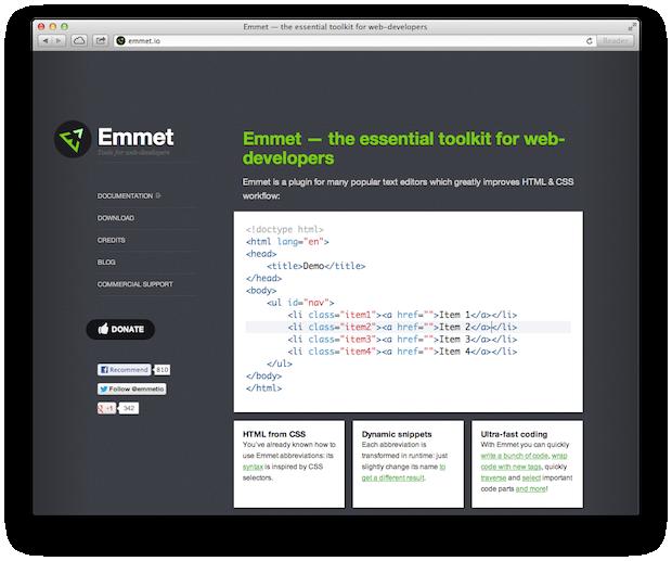 emmet zen coding