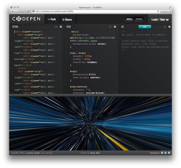 hyperspace css3