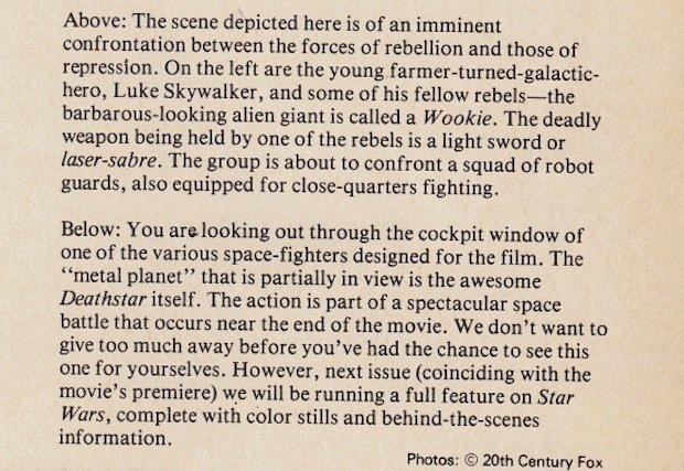 Describing Star Wars Before Star Wars