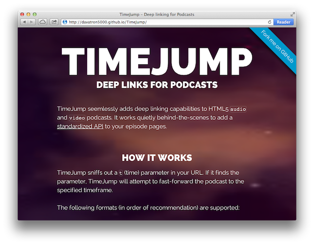 time jump html5
