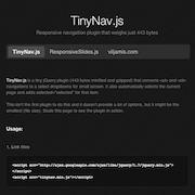TinyNav.js – Lightweight Responsive Navigation