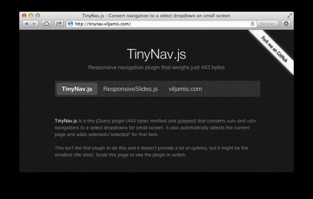 TinyNav-js responsive navigation