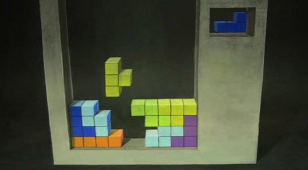 Stop Motion Chalk Tetris by Chris Carlson