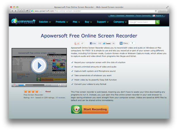 Apowersoft Free Online Screen Recorder - ChurchMag