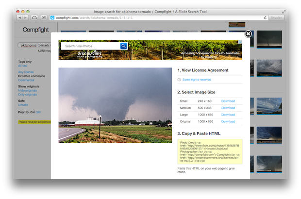 Legal Images of the OK Tornado for Your Church Website