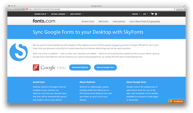 Sync Google Fonts to Your Desktop