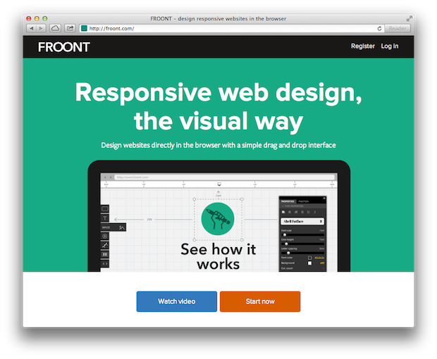 FROONT responsive web design browser