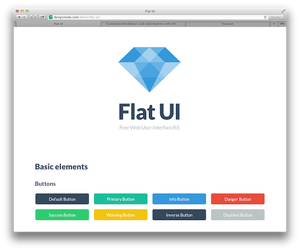 Flat UI Web UI