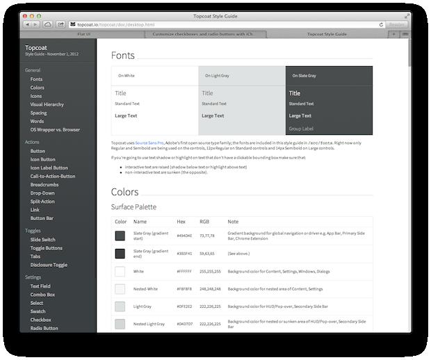 Topcoat Web UI