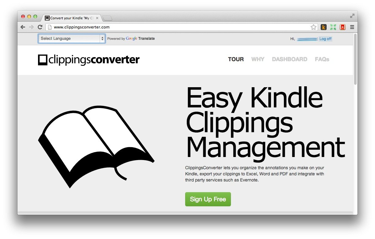 ClippingsConverter: Making Kindle Notes Useful