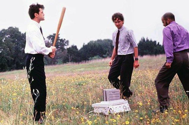 office space fax machine scene