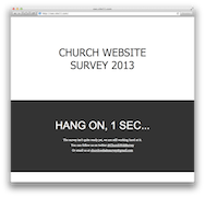 Church Website Survey 2013