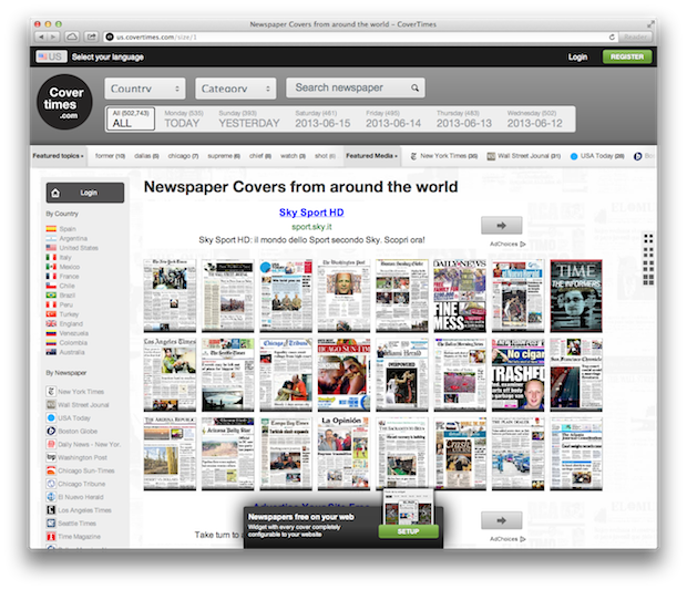 newspaper covers from around the world