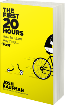 the cover of first 20 hours book, how to learn anything fast