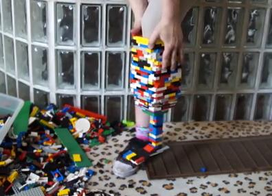 Woman Makes LEGO Prosthetic Leg!