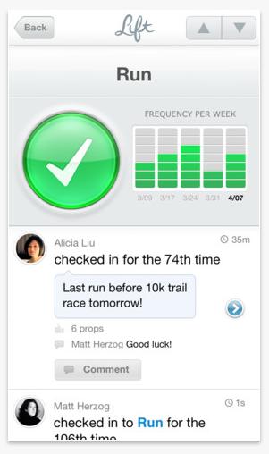 screen shot lift app iphone