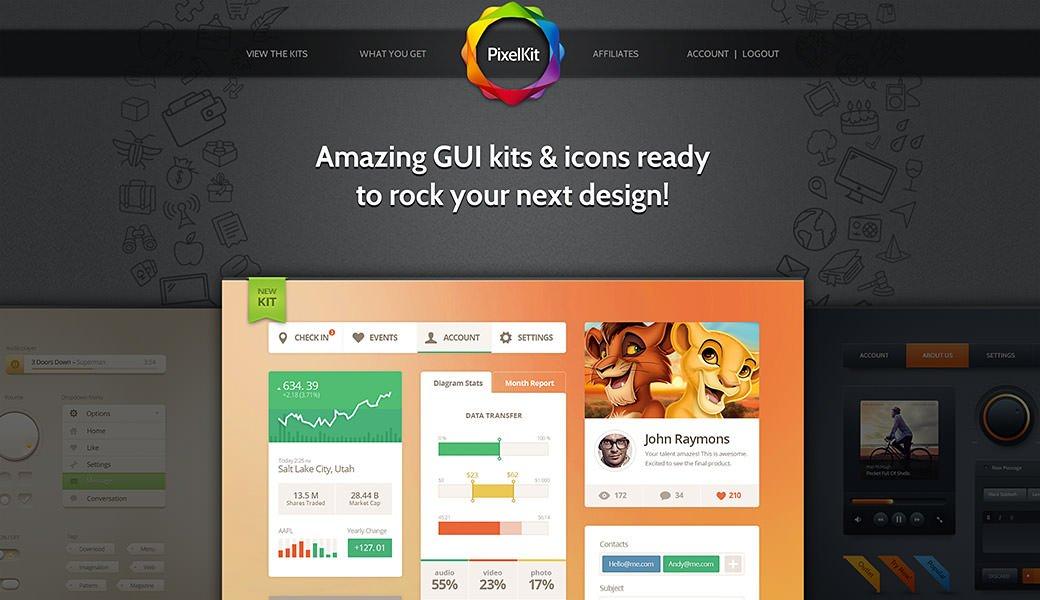 PixelKit Premium UI Kits and Design Resources