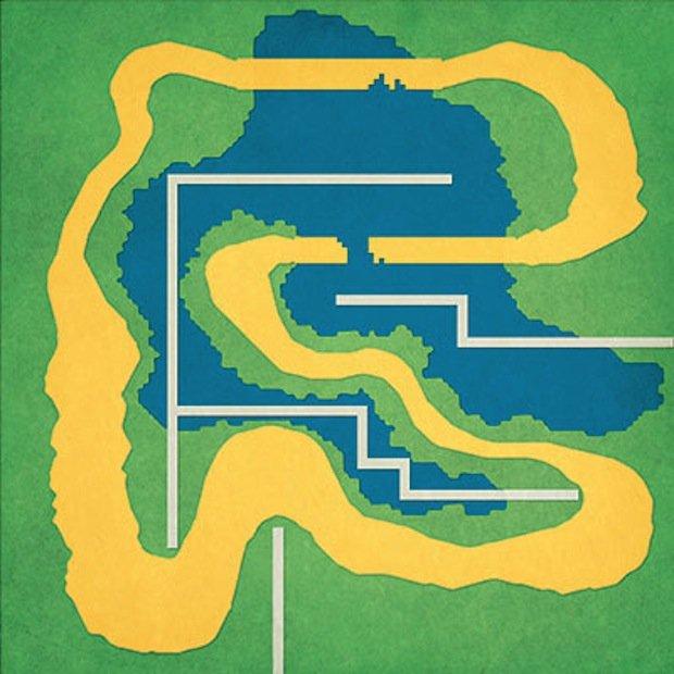Minimalist Video Game Map Prints