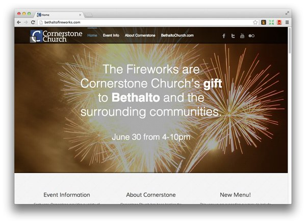 Church Event-Specific Web Sites