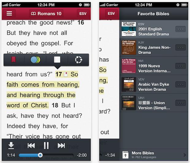 Bible-is iPhone App Screen
