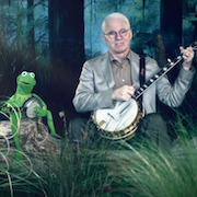 Kermit the Frog and Steve Martin