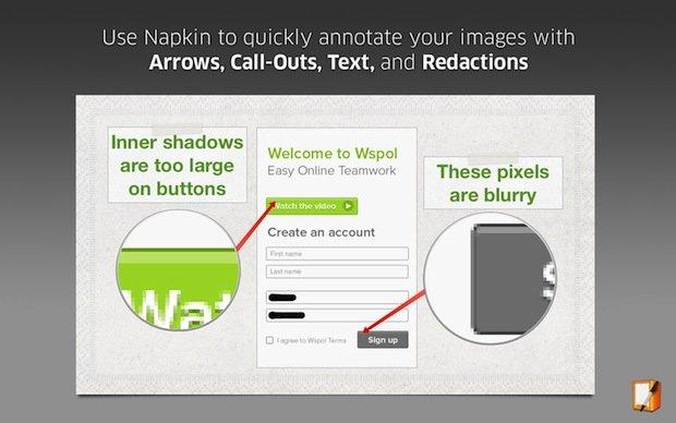 Napkin App Store Screen 1