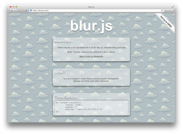 blur.js – A jQuery Plugin for Blurry Special Effects