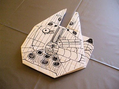 How-To Fold A Millennium Falcon Origami Ship - ChurchMag - photo#8