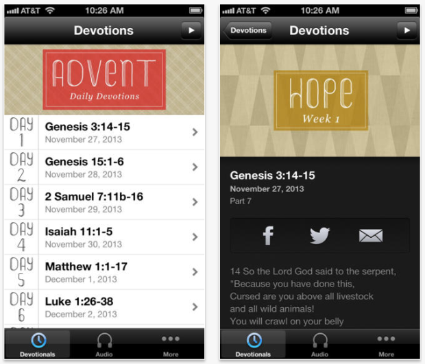 Advent Devotions app Saddleback