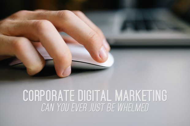Corporate Digital Marketing - Can You Ever Just Be Whelmed