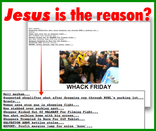 Jesus is the reason - Black Friday
