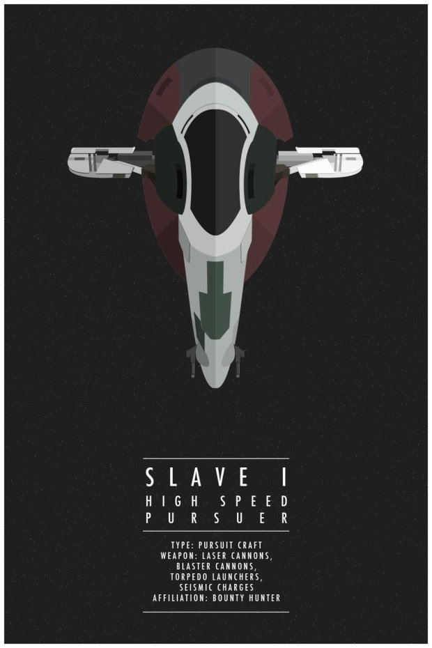 Star Wars Poster Slave 1
