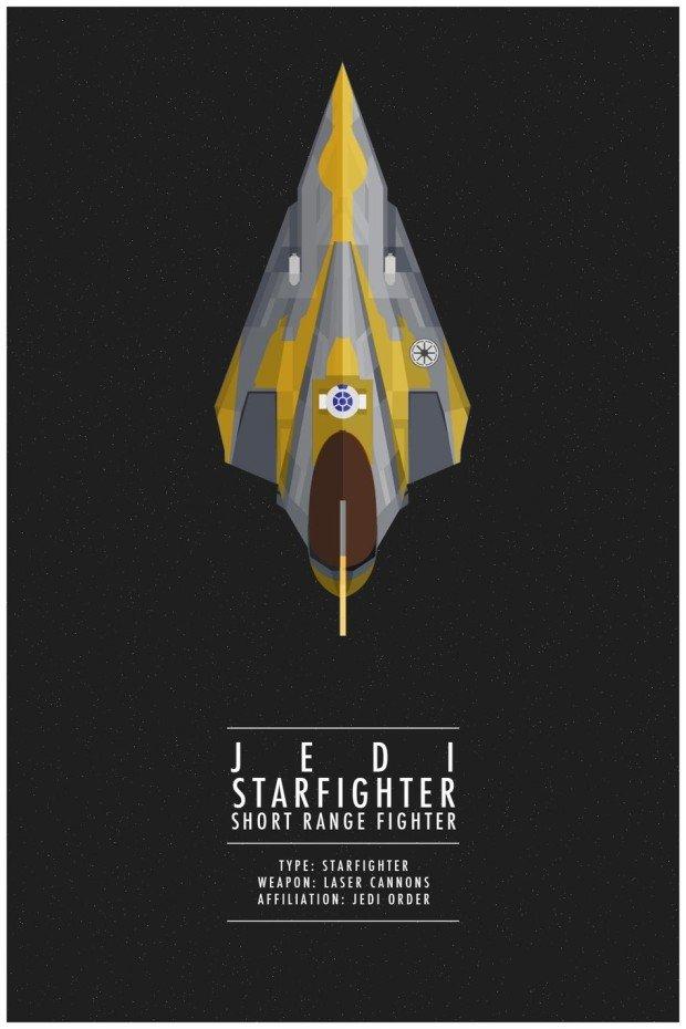 Star Wars Poster Starfighter