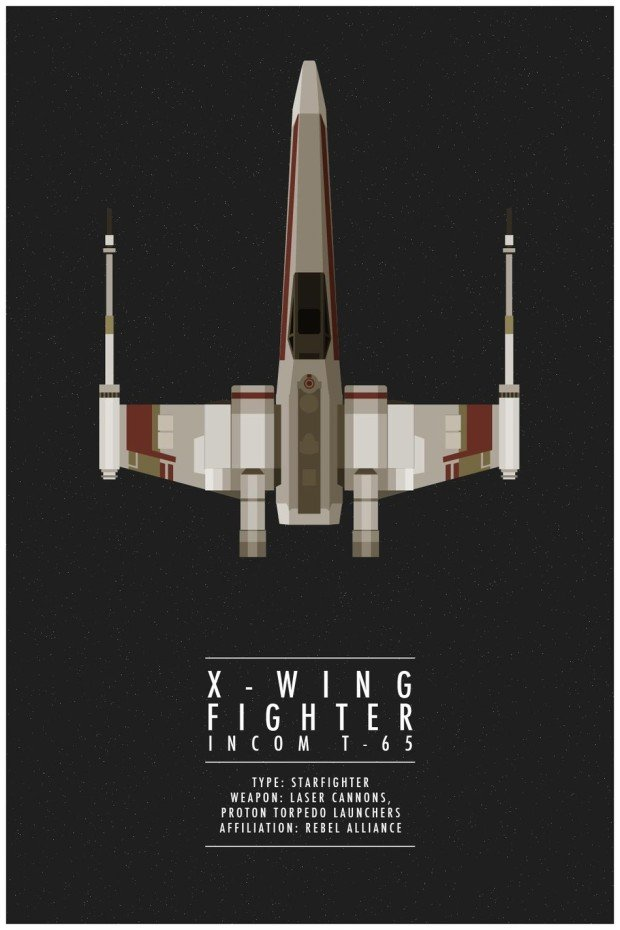 Star Wars Poster XWing