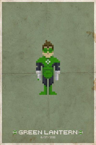 8Bit Heros - Green Lantern