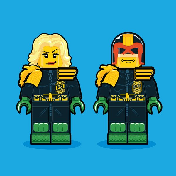 LEGO Illustrations Of Iconic Characters From The 1980s 1
