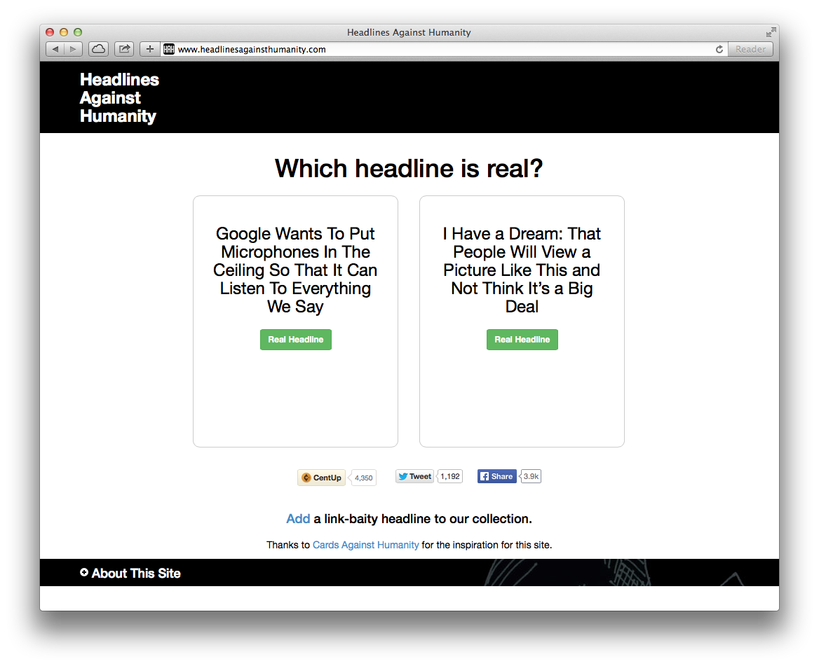 Take the Link Bait Quiz: Which Headline Is Real?