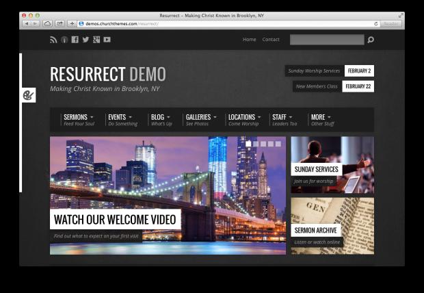 Resurrect Theme A Professional Church Website Made Easy 1