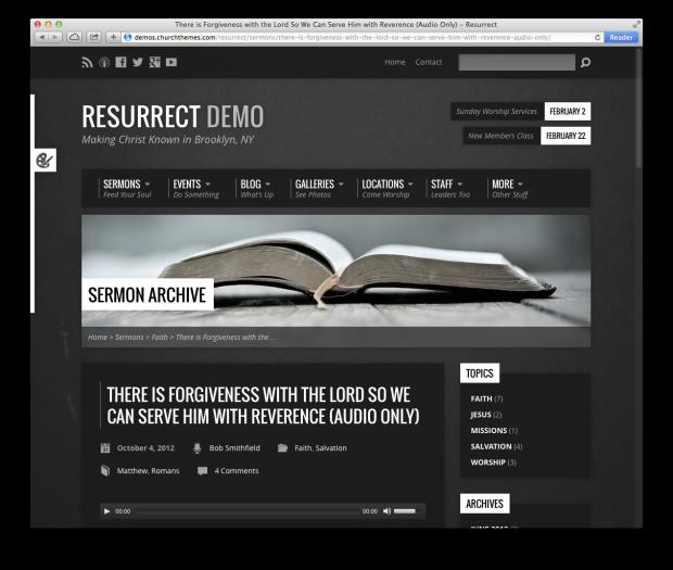 Resurrect Theme A Professional Church Website Made Easy 2