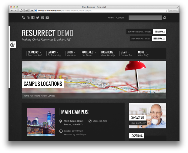 Resurrect Theme A Professional Church Website Made Easy 3