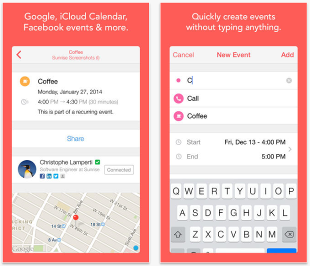 sunrise calendar iphone app google calendar icloud