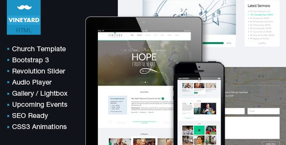 some of the best responsive church html templates churchmag