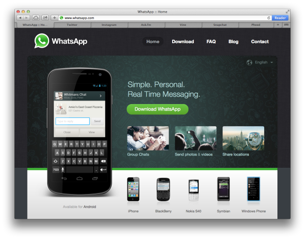 WhatsApp Website Screenshot