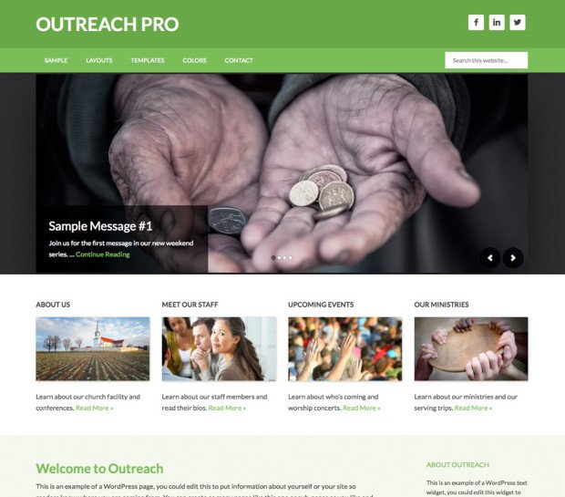 outreach pro genesis framework studiopress wordpress church nonprofit
