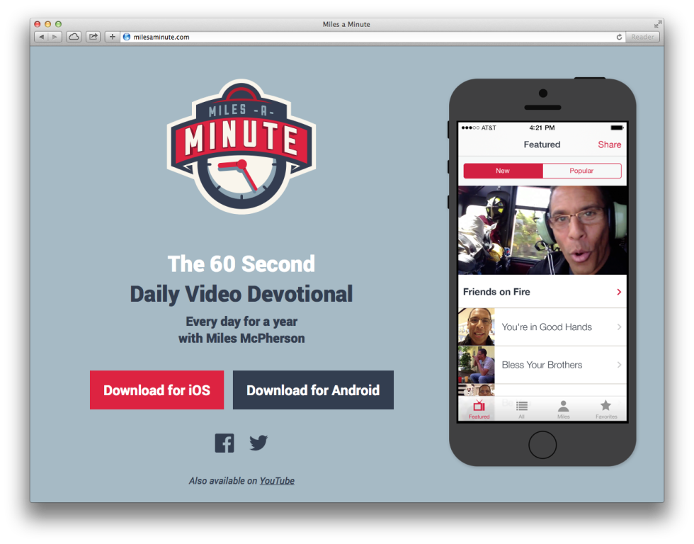 Miles a Minute Daily Devotional App