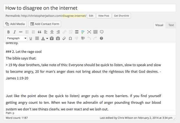 a post written in Markdown jetpack 2.8