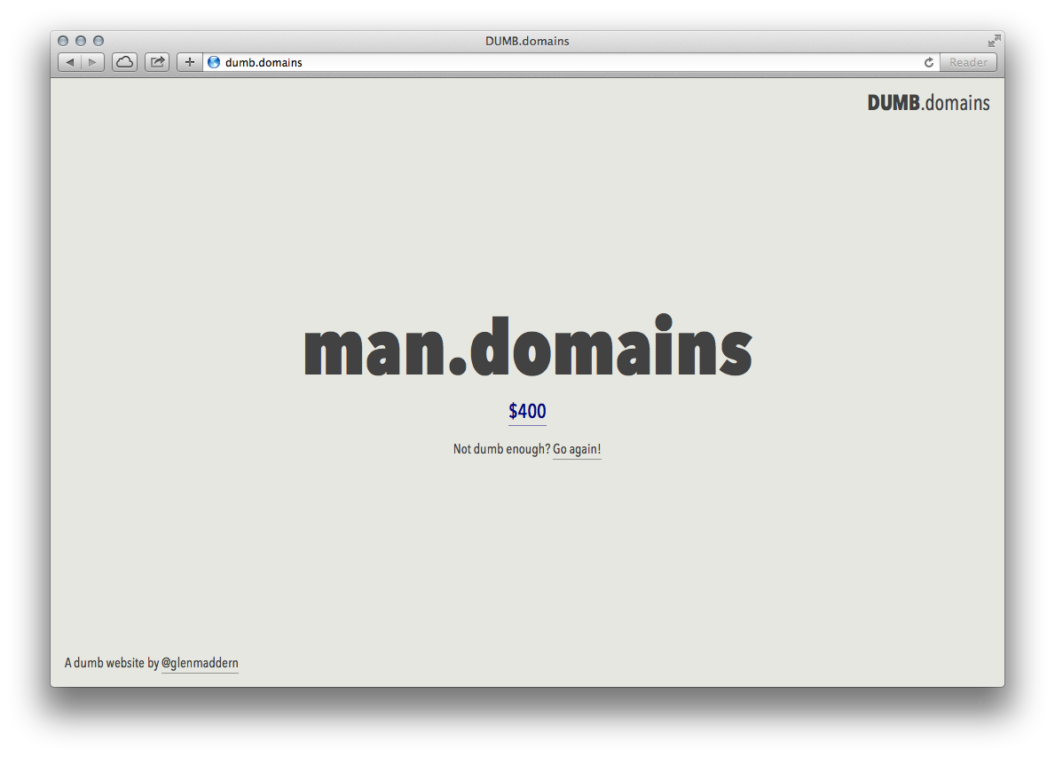 Dumb Domains