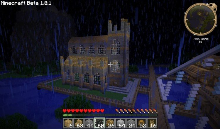 How to build a Minecraft church 05